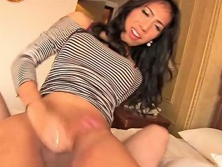 Ladyboygold Video Pantyhose Cock Stuffed