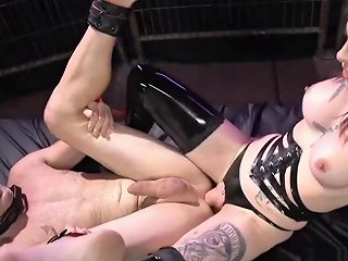 Alt Tranny In Latex Stockings Anal Fucks