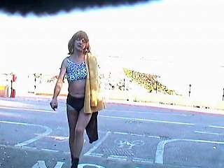 Shameless Crossdresser On A Road