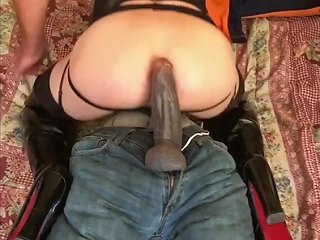Sasha Cd Riding 10 5 Inch Big Black Cock Bbc Crossdresser